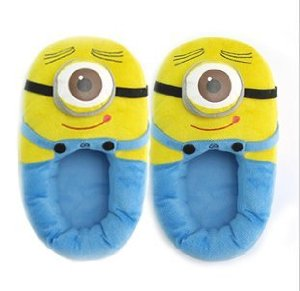 "Amazon.com - Be World Despicable Me2 Plush Stuffed Slippers Soft Toy One-eyed Minions 11"" Dave New - Hypoallergenic Pillows"