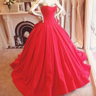 dress red long red dress ball gown dress ball gown corset dress