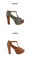 Lady's open toe faux suede t strap platform cuban thick high heels sandals shoes