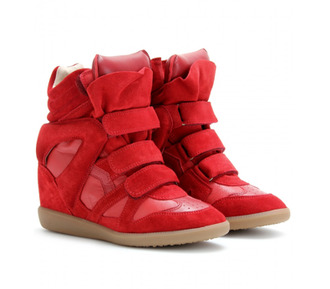shoes sneakers wedges isabel marant