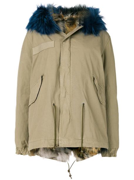 parka fur fox women nude cotton coat