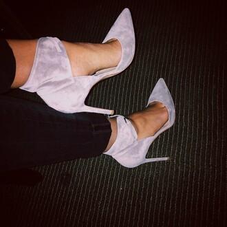 shoes grey rossi heels high heels pumps gianvito rossi