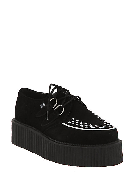 T.U.K. Black Suede Mondo Creepers | Hot Topic