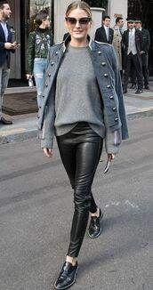 sweater,jacket,fall outfits,streetstyle,Paris Fashion Week 2017,blogger,olivia palermo