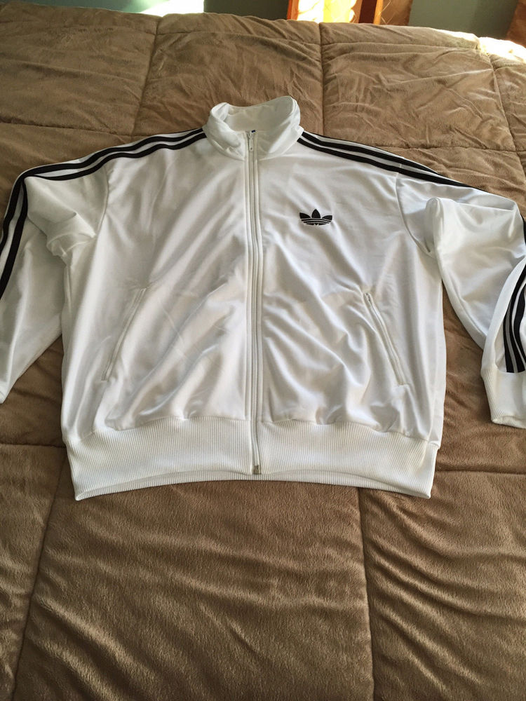 72ae1be7 Men's Adidas Originals Black White/Black Track Zip Front Jacket Size XL