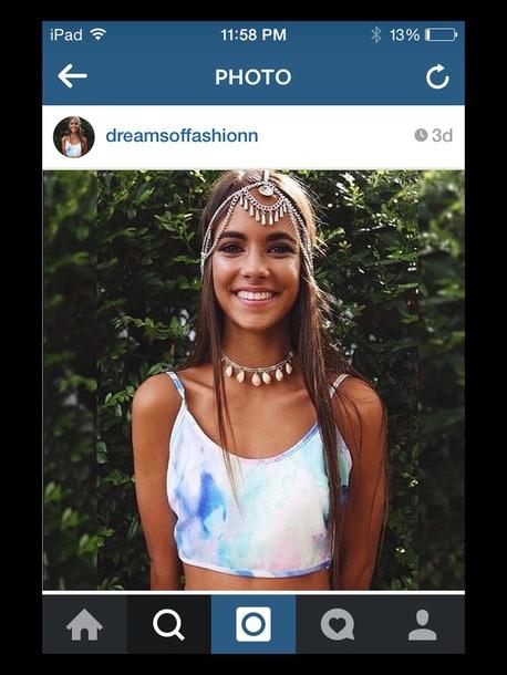 hair accessory sparky bohemian hair  piece shirt crop top tank top