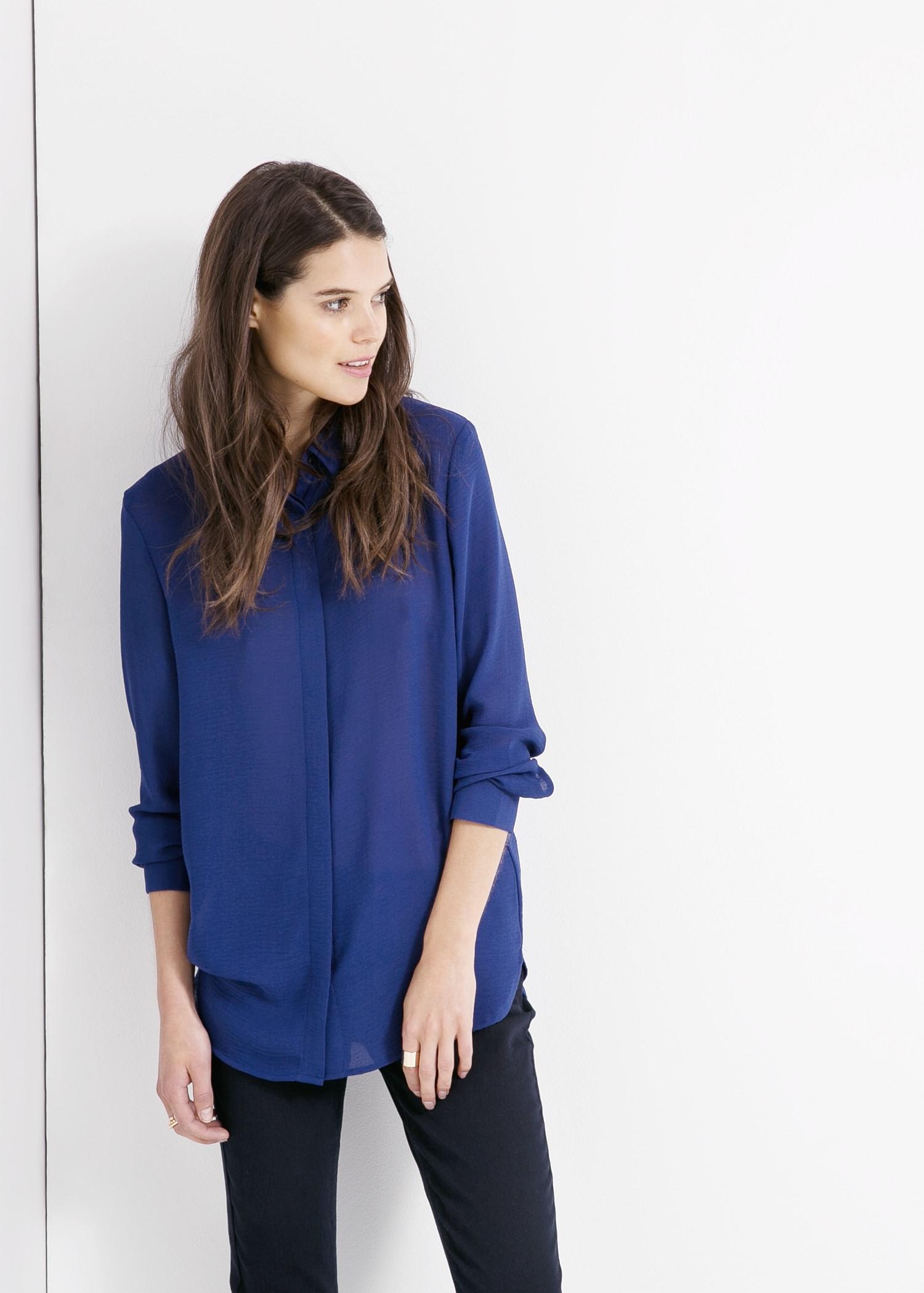 Basic chiffon blouse - Blouses voor Dames | MANGO
