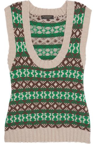vest wool green jacket