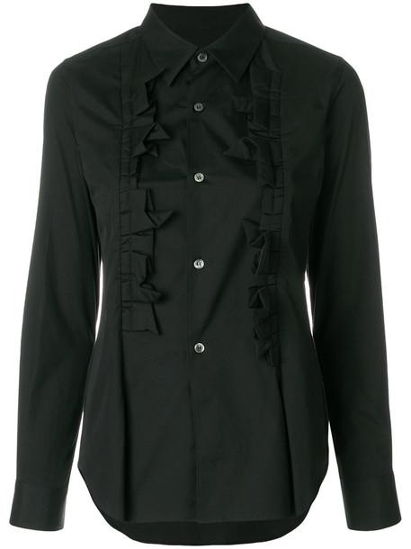 Comme des Garçons Comme des Garçons shirt ruffle women cotton black top