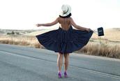 ktr style,blogger,dress,shoes,bag,hat
