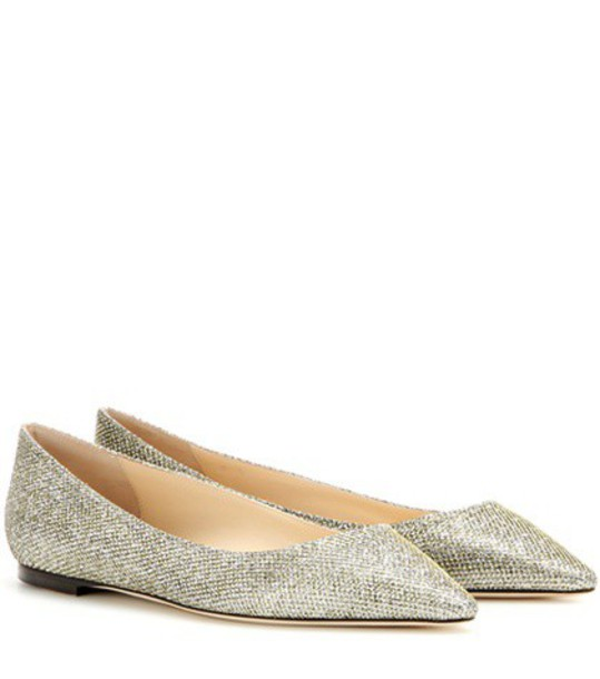 Jimmy Choo glitter metallic shoes