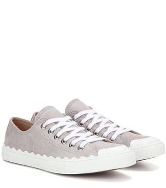 suede sneakers sneakers suede grey shoes