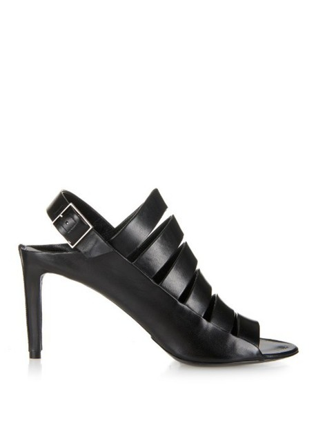 Balenciaga sandals leather sandals leather black shoes