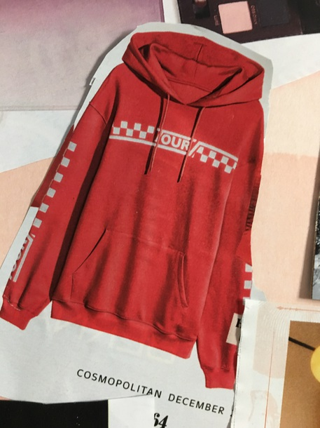 sweater red checkered