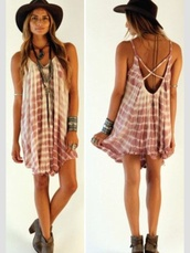 pink dress,pink,tie dye,dress,style,fashion,vintage,boho,hippie,faded,summer outfits,hat