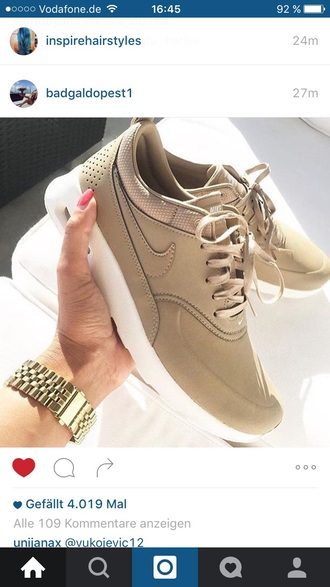 shoes nike nike sneakers beige sneakers nike roshe run beautiful brown nike shoes nude all nude everything