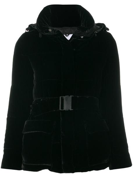 ASPESI jacket puffer jacket women black silk velvet
