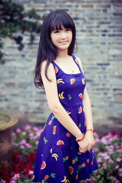 dress blue dress preppy beautiful sweet