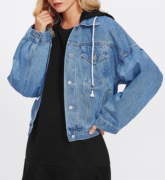 jacket girly blue denim jacket denim oversized oversized jacket vintage