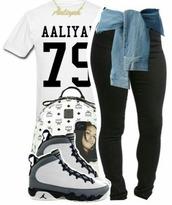 shirt,aaliyah shirt,jersey,white t-shirt