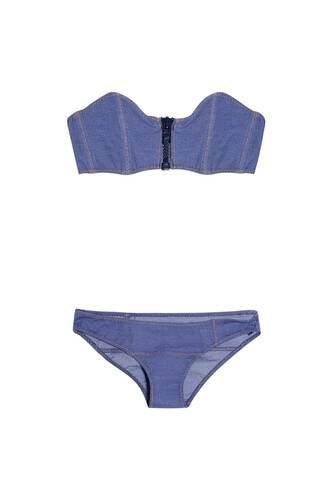 bikini denim navy swimwear