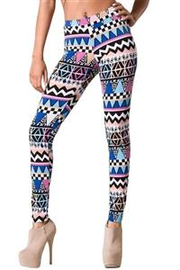 Womens Tribal Patterned Leggings