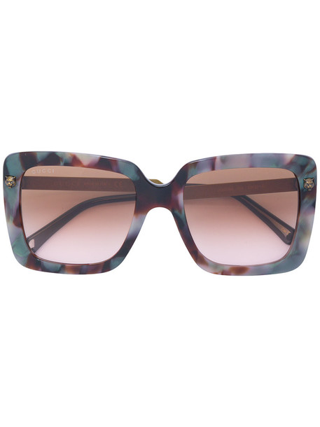 Gucci Eyewear - square tinted sunglasses - women - Acetate/Metal (Other) - 53, Acetate/Metal (Other)
