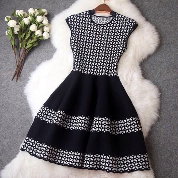 dress black dress black and white dress