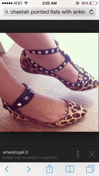 shoes leopard print flats stripes studs