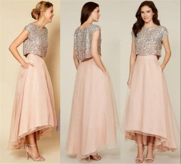Cute Prom Dresses 2016 Two Pieces Red Carpet Prom Dresses With ...