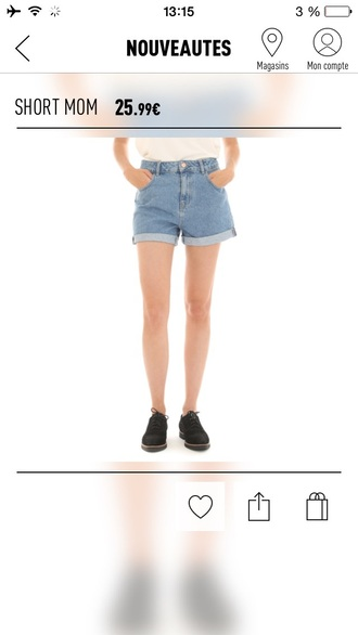 shorts jeans short blue jeans mom fit vintage high waisted shorts