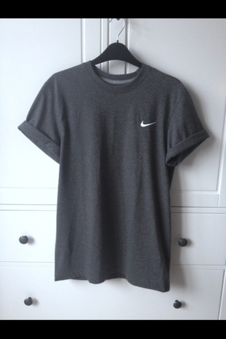 shirt grey nike top clothes