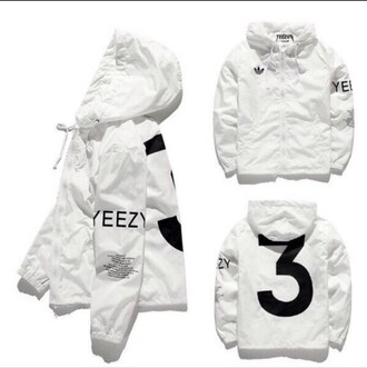 jacket yeezus yeezy adidas white kanye west windbreaker coat yeezyboost black and white number need  cute baddies lovely black yeezy tour flight jacket ovoxo yezzy hoodie adidas jacket yeezy jacket google adidas yeezy 3 jacket for more info