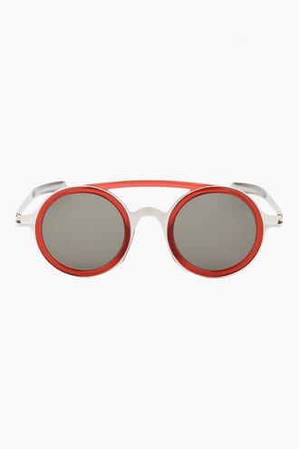 sunglasses red round silver dd03 mykita edition menswear