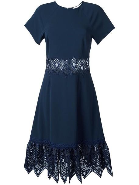 dress women spandex blue