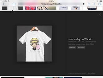 kian lawley white t-shirt