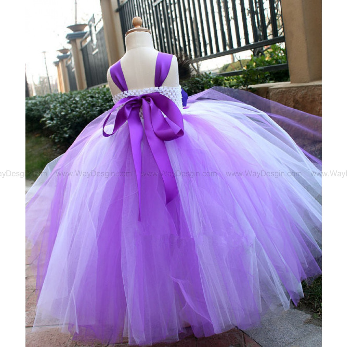 Purple tutu dress Flower Girl Dress baby dress toddler