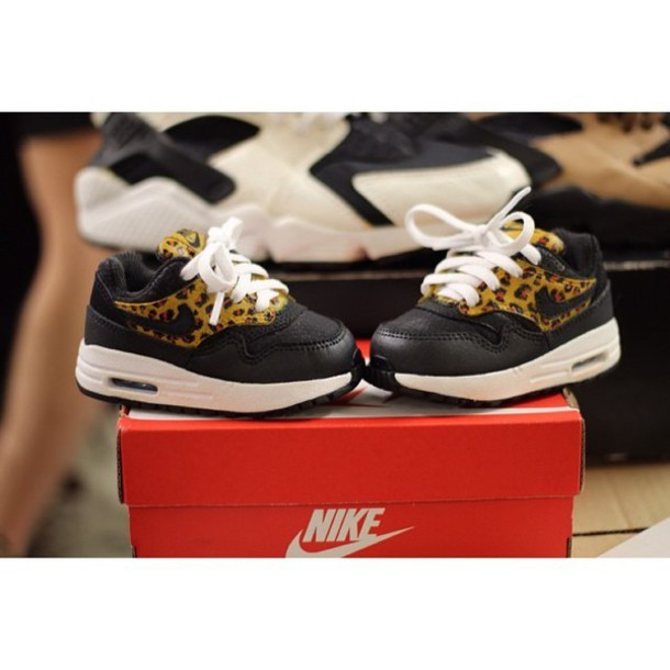 shoes, air max, nike air max 1, nike, baby clothing, leopard print ...