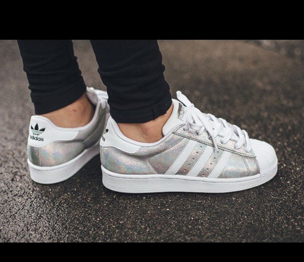 Metallicwhite Trainers Adidas Silver Originals Superstar OUWU86qIng