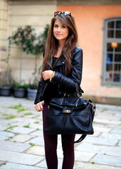 jacket,mariannan,leather,gold,details,biker,fall outfits,pants,bag