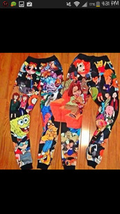 pants,leggings,cartoon,jeans