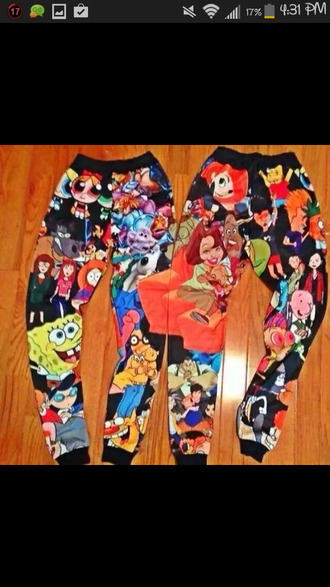 pants leggings cartoon jeans