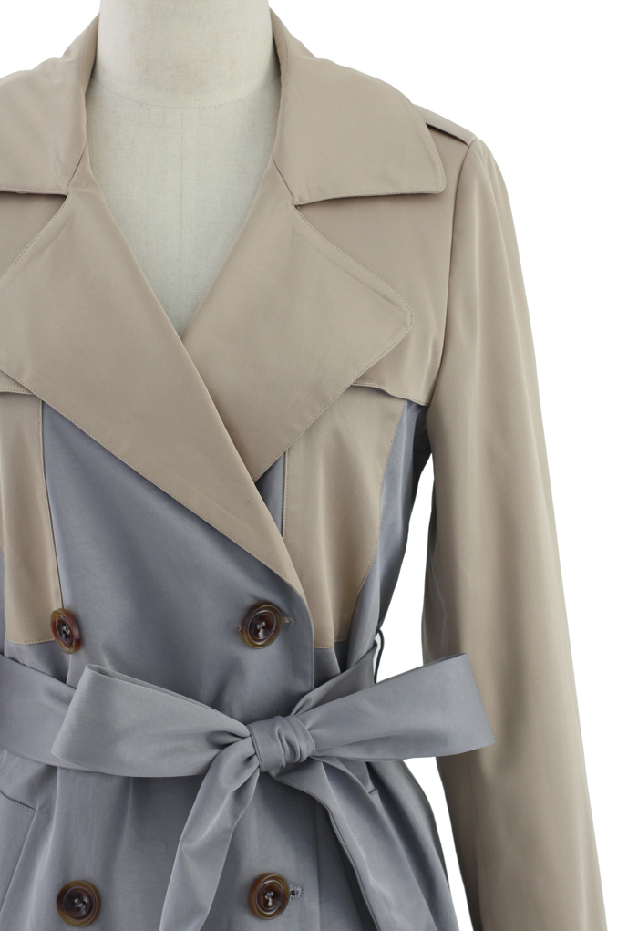 Two Tone Trench Coat - Retro, Indie and Unique Fashion