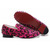 leopard louboutin rollerboy spikes red womens flat shoes