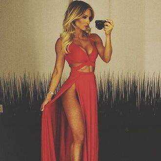 dress red sexy fashion beautiful maxi dress summer spring hot freevibrationz