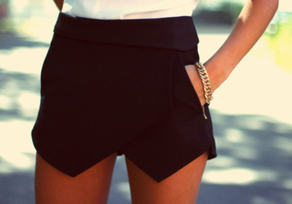 shorts skirt jewel black skirt white skirt