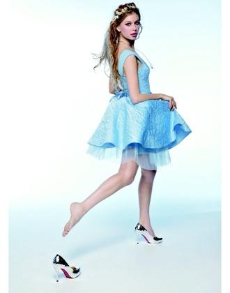 dress blue dress short dress cinderella pale blue