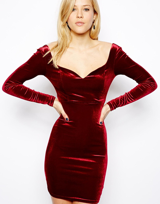 dress red red dress velvet party dresses sexy dress party dress pencil dress burgundy