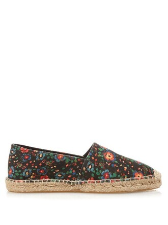 espadrilles floral print shoes