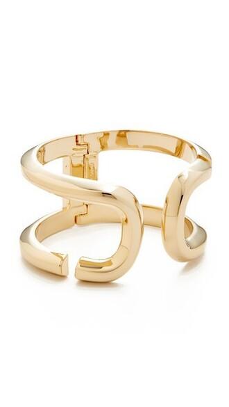 cuff open cuff bracelet gold jewels